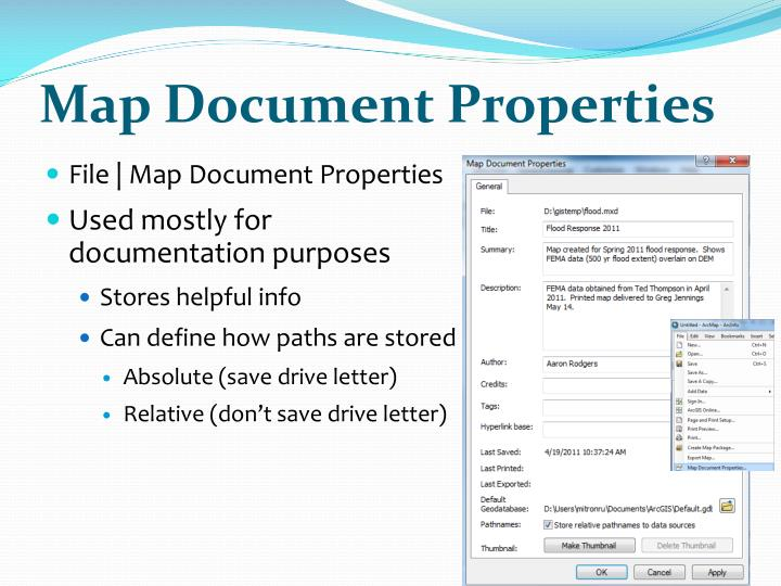 Map Document Properties