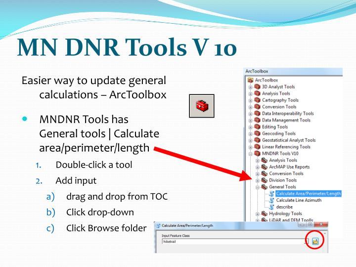MN DNR Tools V 10