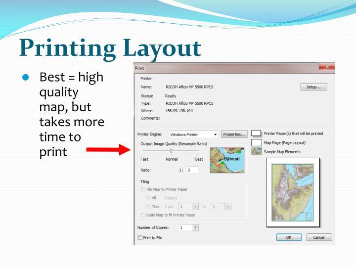 Printing Layout