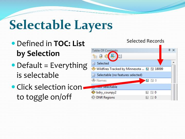 Selectable Layers