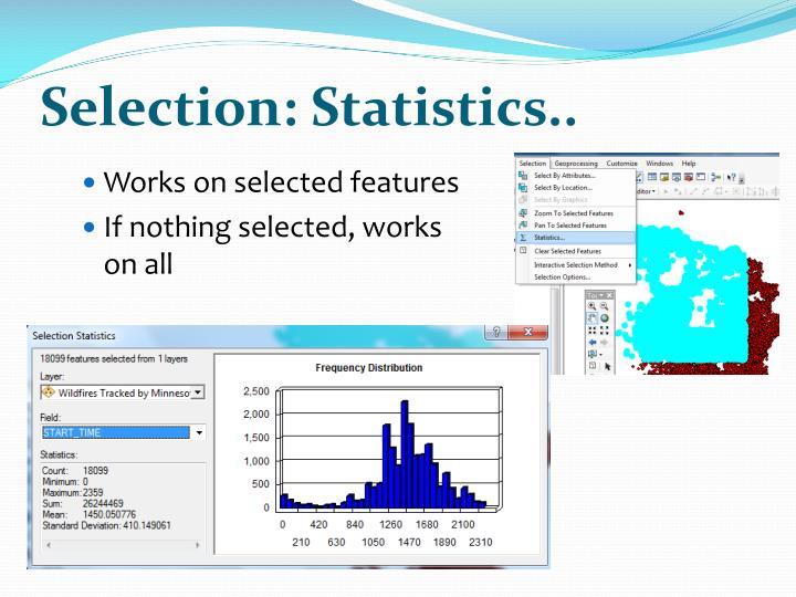 Selection: Statistics..