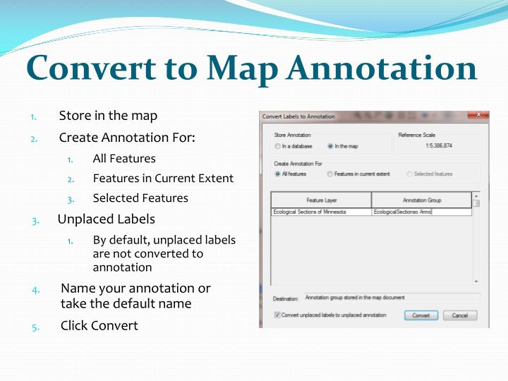 Convert to Map Annotation