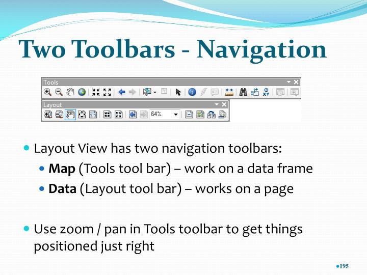 Two Toolbars - Navigation