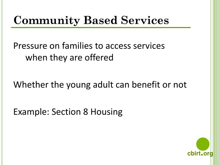 Community Based Services