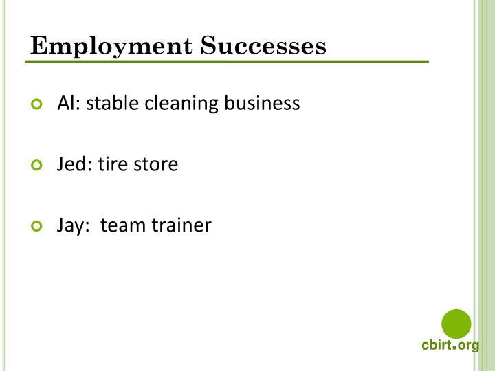 Employment Successes
