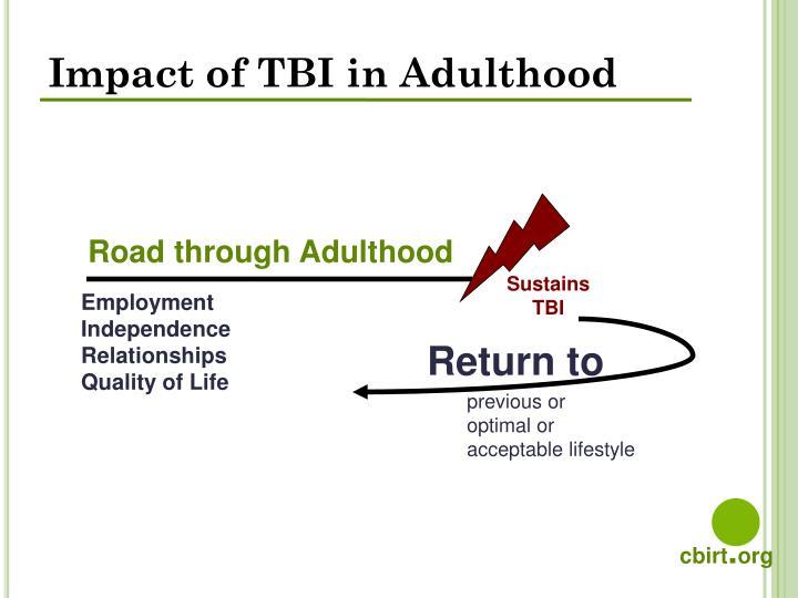 Impact of TBI in Adulthood
