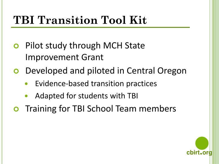 TBI Transition Tool Kit