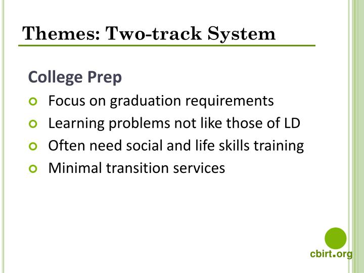 Themes: Two-track System