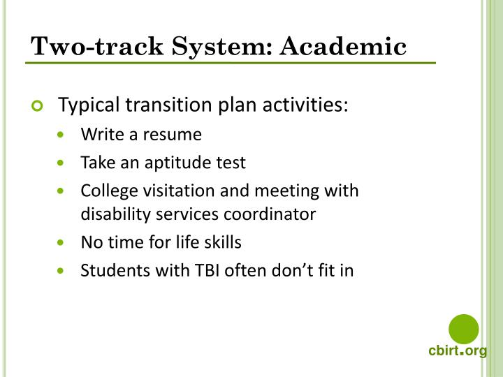 Two-track System: Academic