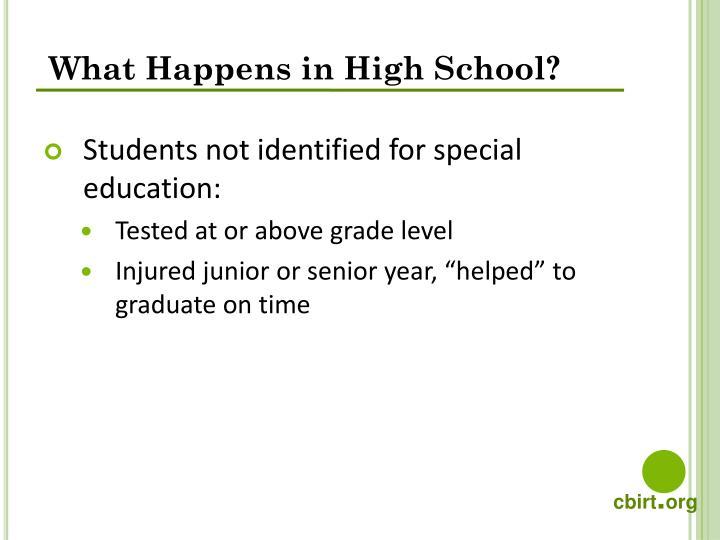 What Happens in High School?