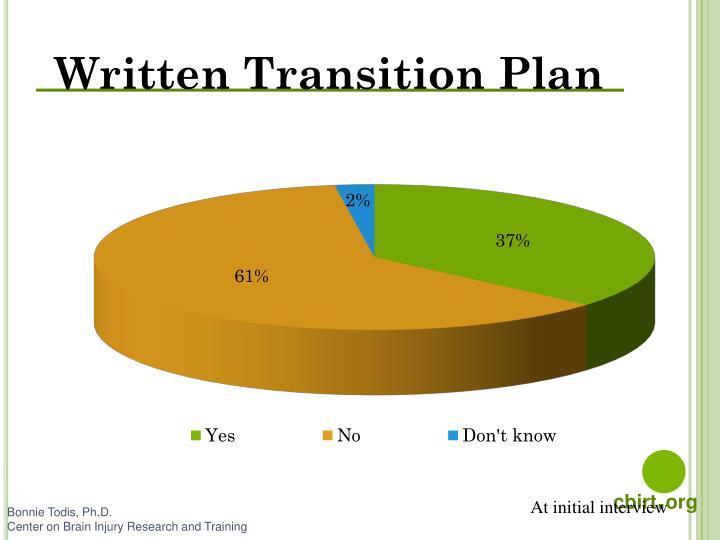 Written Transition Plan