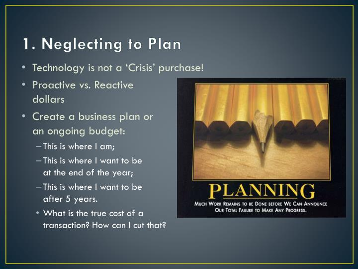 1. Neglecting to Plan