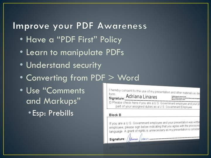 Improve your PDF Awareness