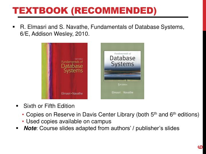 Textbook (Recommended)
