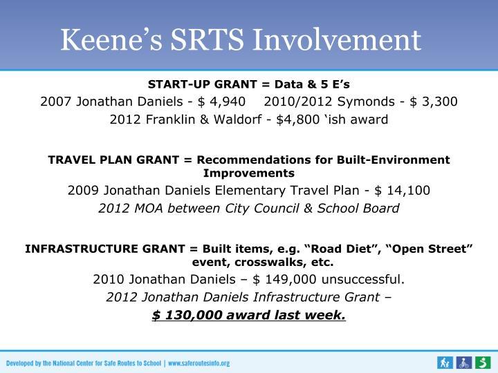 Keene's SRTS Involvement
