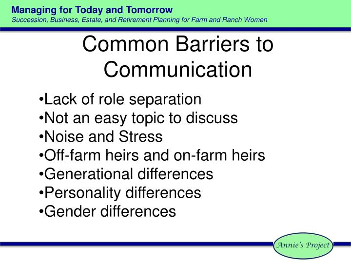 Common barriers to communication