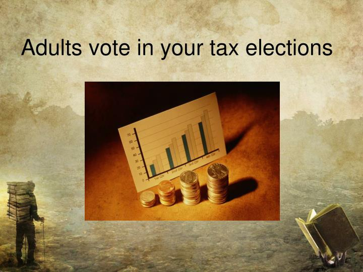 Adults vote in your tax elections