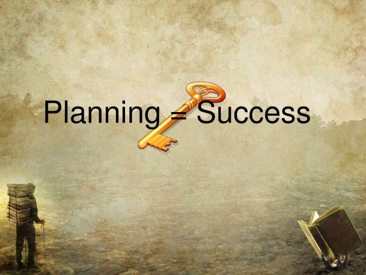 Planning = Success