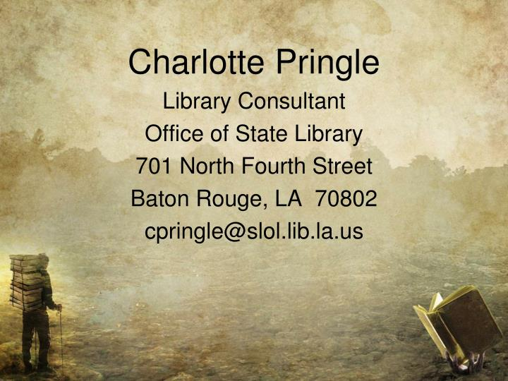 Charlotte Pringle