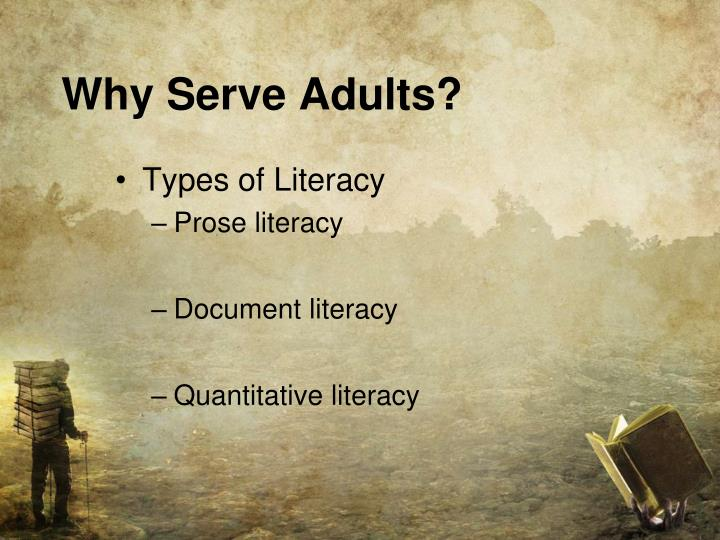 Why Serve Adults?