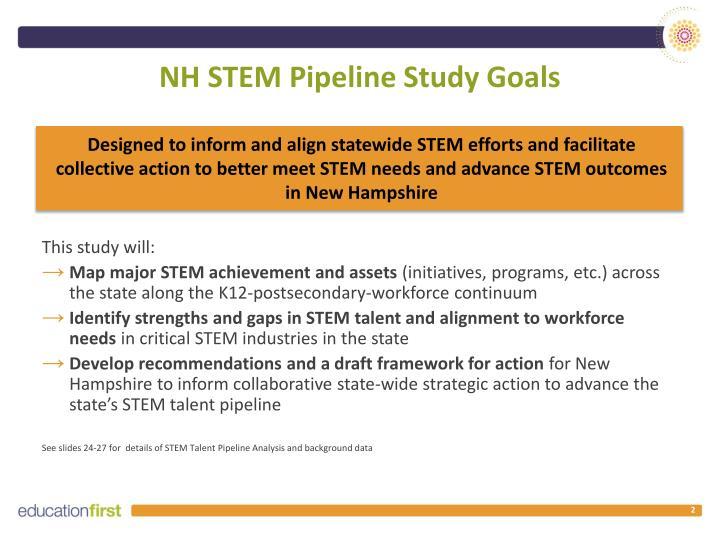 NH STEM Pipeline Study Goals