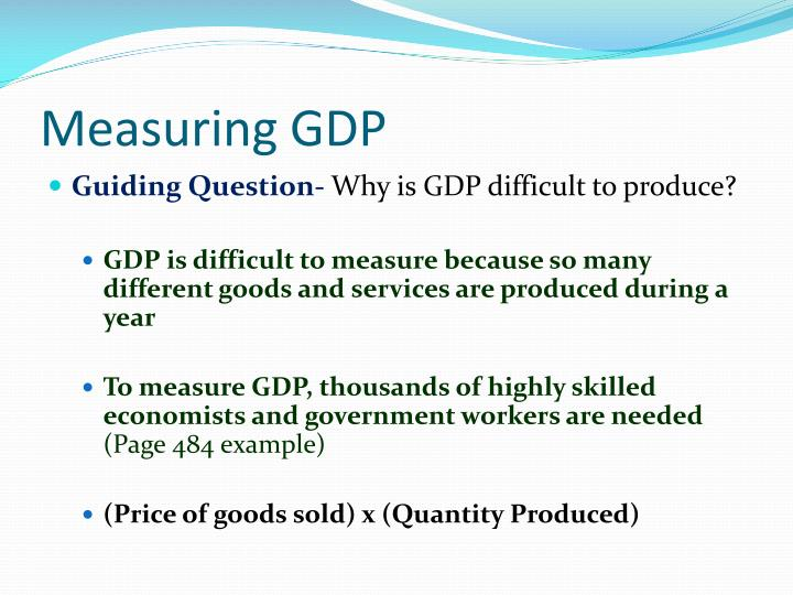 gdp is it a useful measure The single most important measure in discussions of national  growth rate in  real gdp is a good measure of the effects of economic policies.