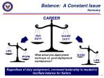 balance a constant issue summary