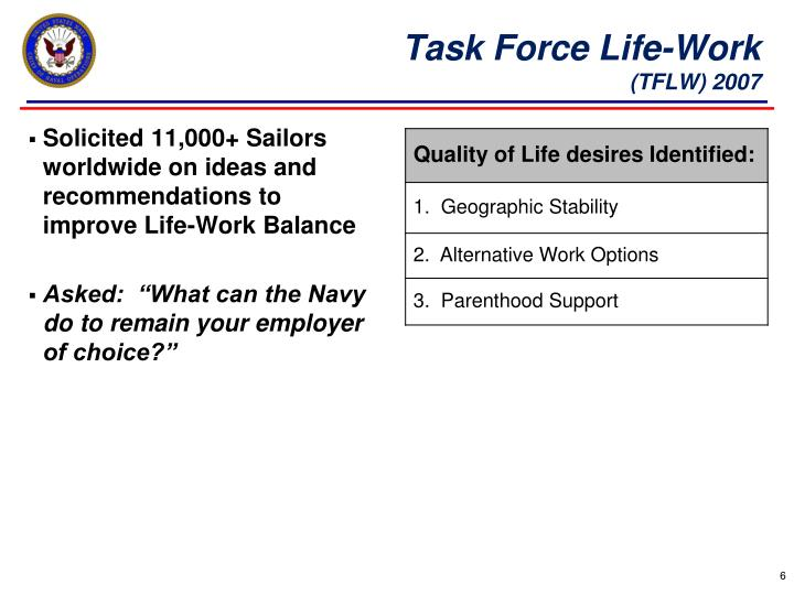 Task Force Life-Work
