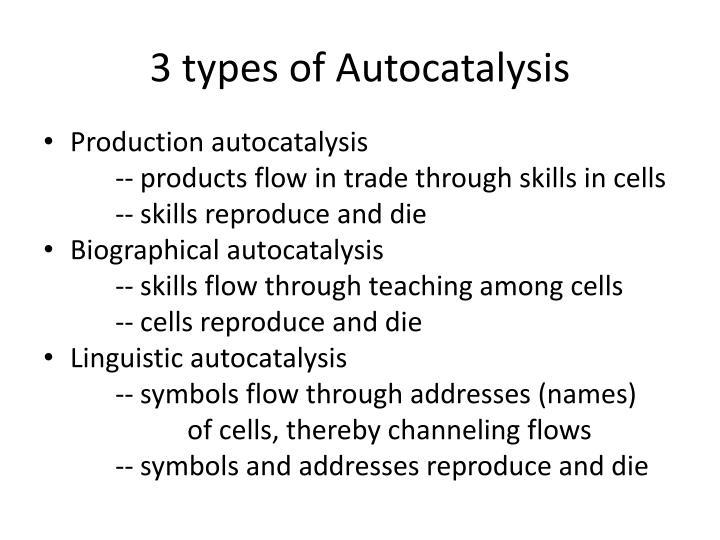 3 types of Autocatalysis