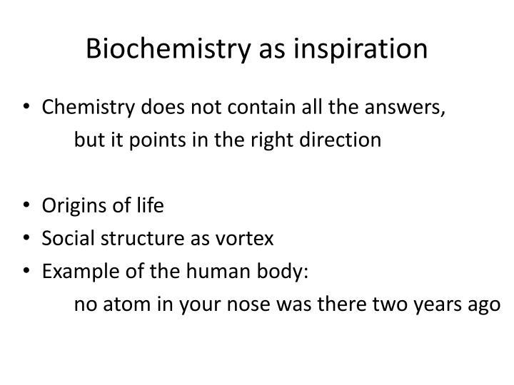 Biochemistry as