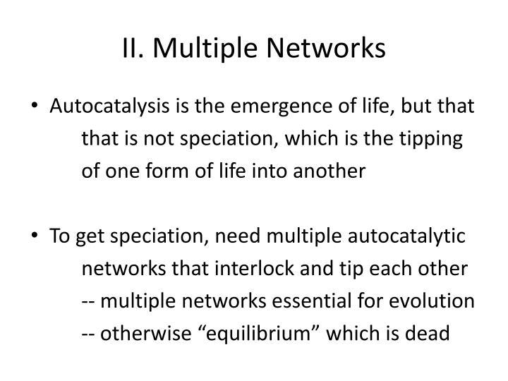 II. Multiple Networks