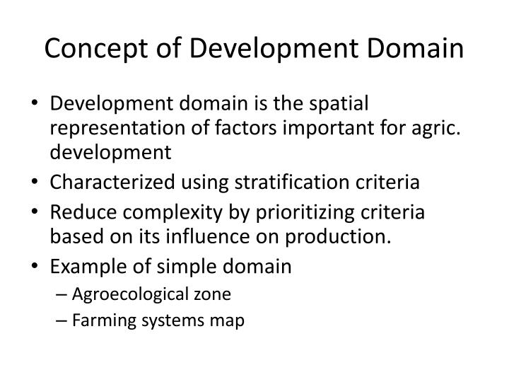Concept of Development Domain