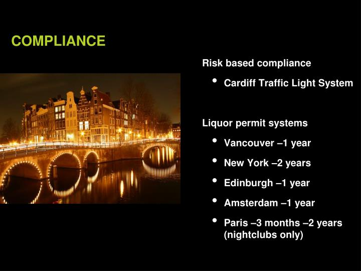 Risk based compliance