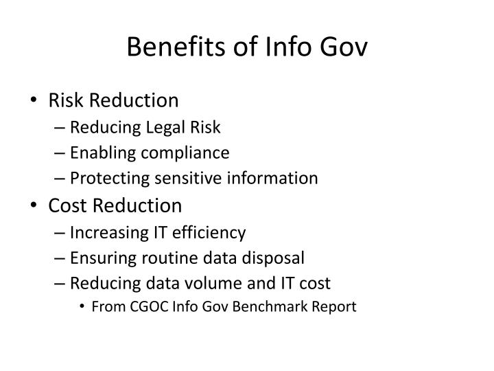 Benefits of Info