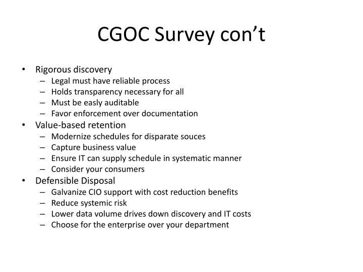 CGOC Survey