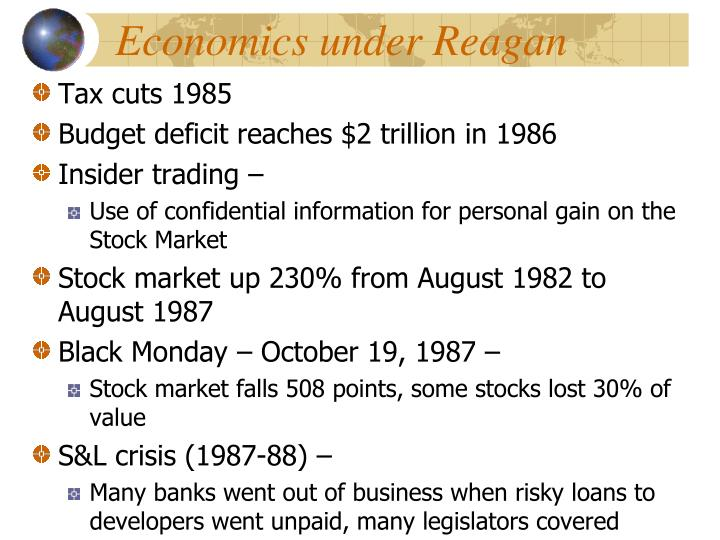 Economics under Reagan