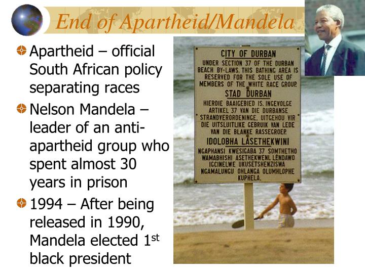 End of Apartheid/Mandela