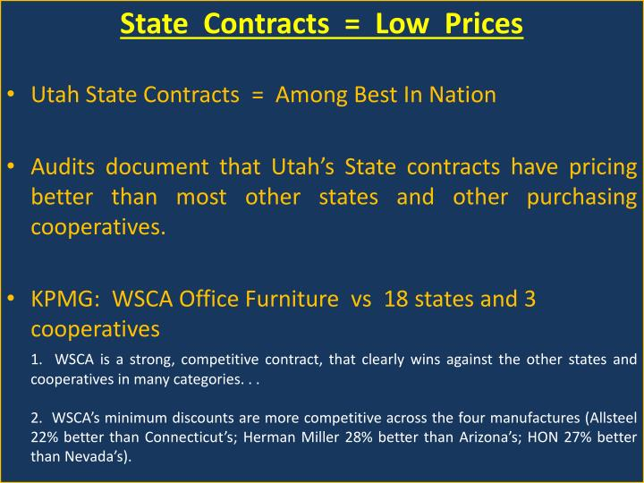 State  Contracts  =  Low  Prices