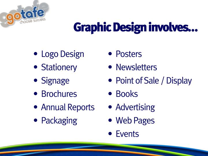 Graphic Design involves…