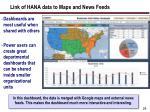 link of hana data to maps and news feeds