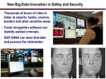 new big data innovation in safety and security