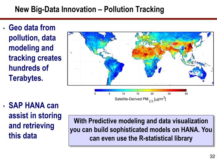 New Big-Data Innovation – Pollution Tracking