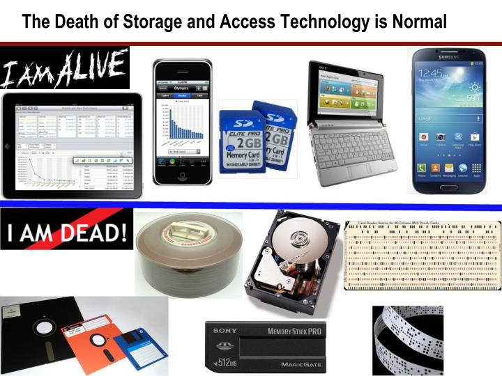 The Death of Storage and Access Technology is Normal