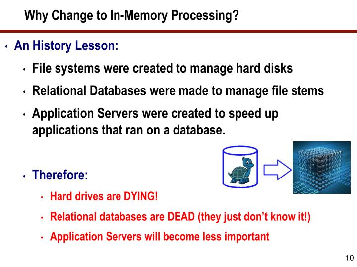 Why Change to In-Memory Processing?