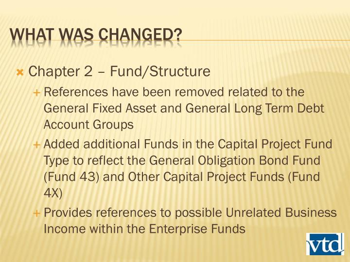 Chapter 2 – Fund/Structure