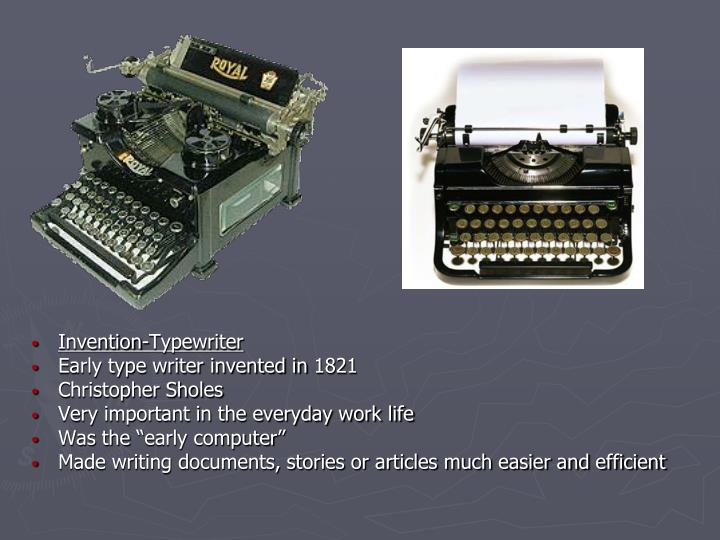 Invention-Typewriter