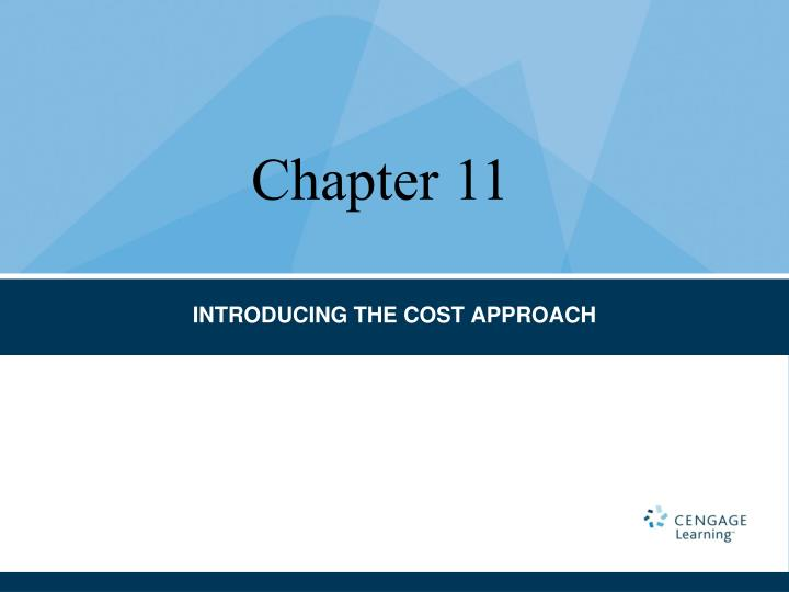 Introducing the cost approach