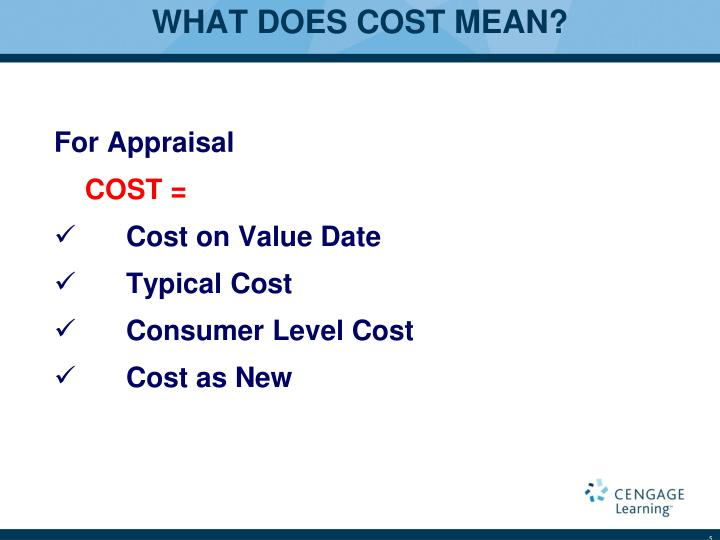 WHAT DOES COST MEAN?