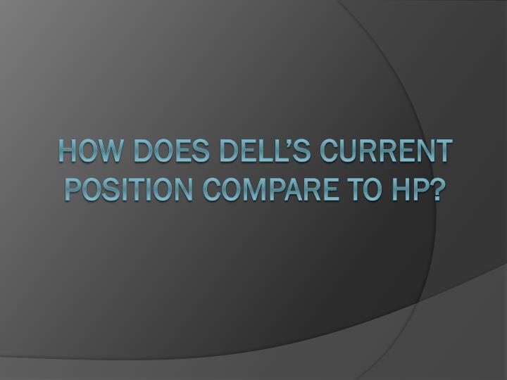 How does dell's current position compare to HP?