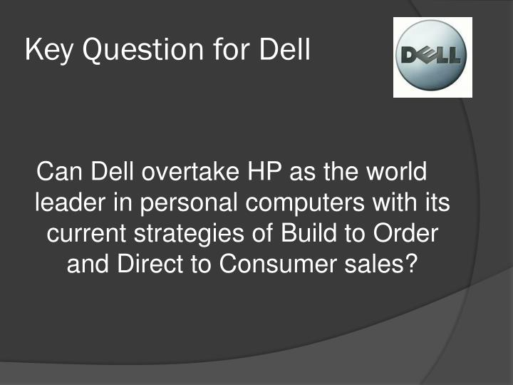 Key question for dell